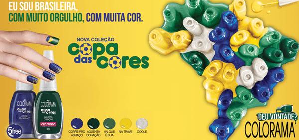 Colorama lança coleção de esmaltes inspirada na Copa