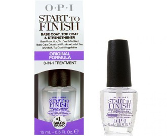 top coat Start To Finish Base Coat - O.P.I, Top Coat & Strengthener 3-in-1 Treatment OPI