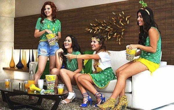 look verde e amarelo para torcer com as amigas