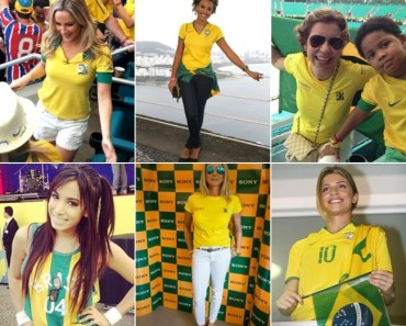 look verde e amarelo das celebridades