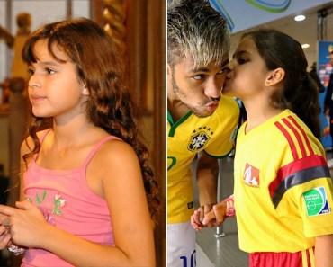 Bruna Marquezine pequena parece com a fã mirim que beija Neymar