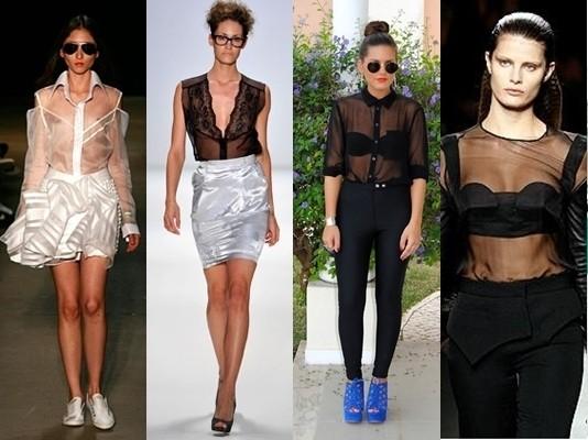 Tendência roupa transparente verão 2015