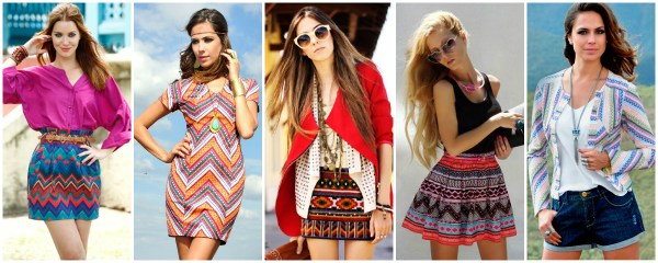 roupas da tendência navajo