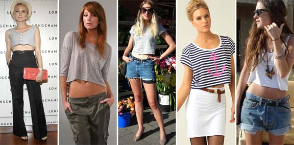 Blusas femininas modelo cropped