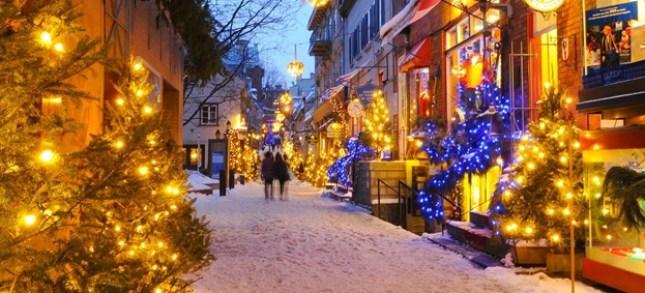 Quebec Canada Lugar para passar o Natal