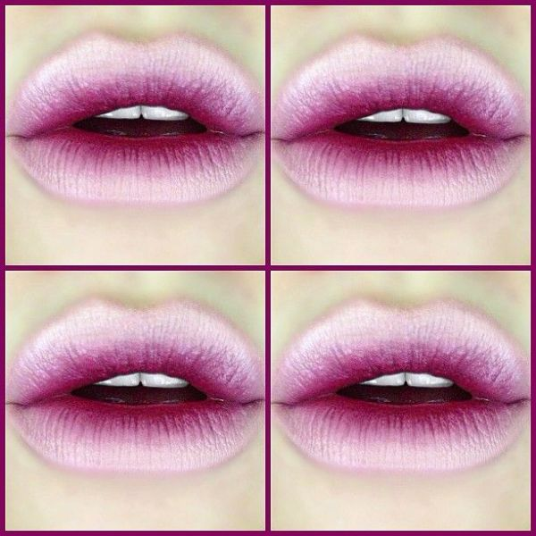 Ombré lips com degradê invertido