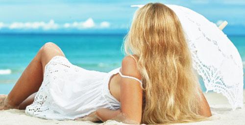 Protetor solar para cabelos loiros