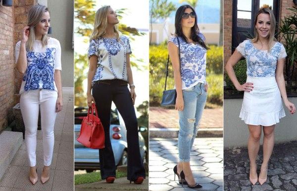 Camisetas para mulheres estampa de Azulejos Portugueses