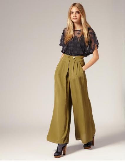 modelo de calça pantalona
