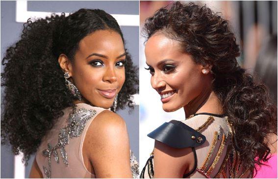 mulheres negras com Cabelos cacheados