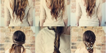 penteados bonitos com flores