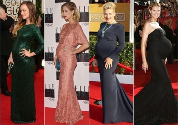 cores de vestidos de festa para grávidas