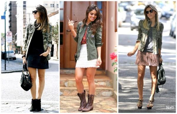 casaco feminino no estilo militarismo