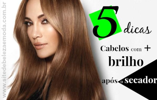 5 dicas para seu cabelo ter mais brilho após o secador