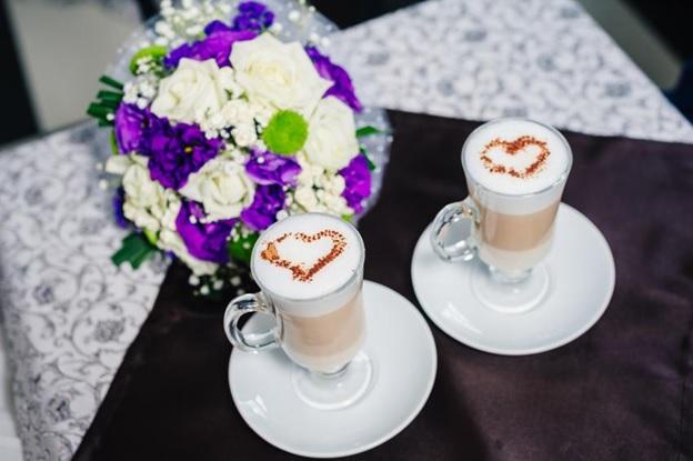 café da festa de casamento