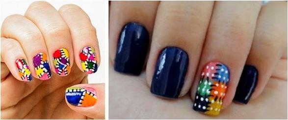 opções de unhas decoradas para festa junina