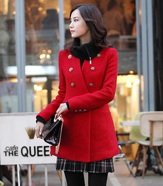 casaco vermelho de lã