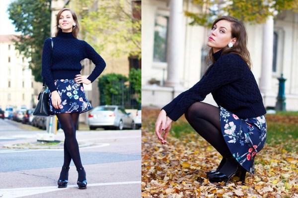 Moda inverno 2015: Look Romântico com Suéter Cropped