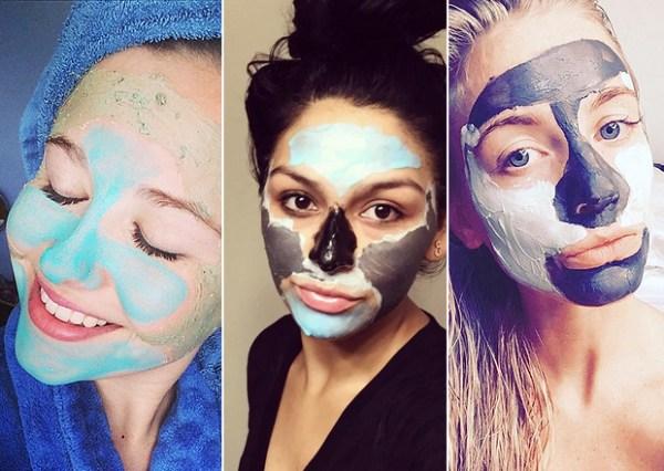 mulheres com várias máscaras faciais