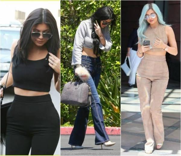 Foto de mulheres usando calça de cintura alta
