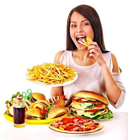 comendo exageradamente