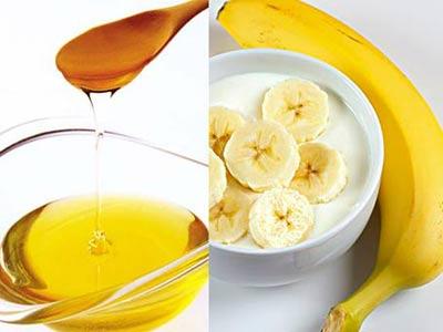 Máscara de banana e óleo de amêndoa