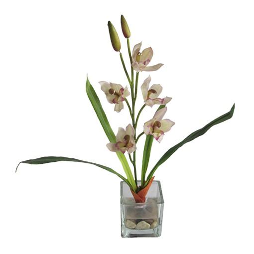 planta artificial com vaso decorativo quadrado