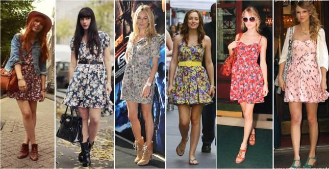 vestidos com estampa floral