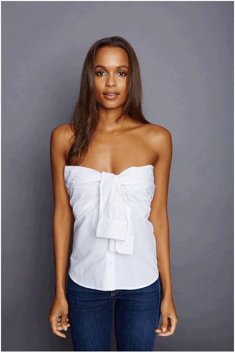 camisa branca para um encontro romântico