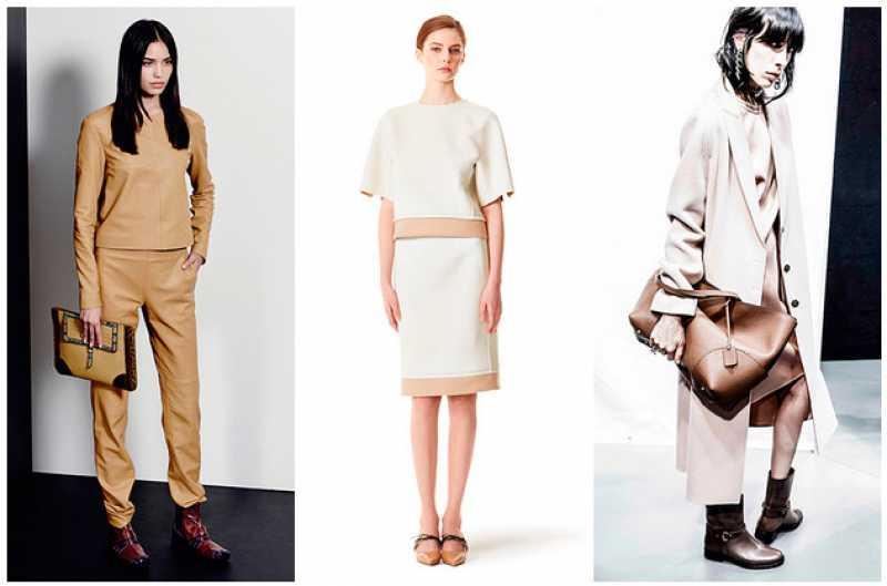 A cor bege na moda outono inverno 2016
