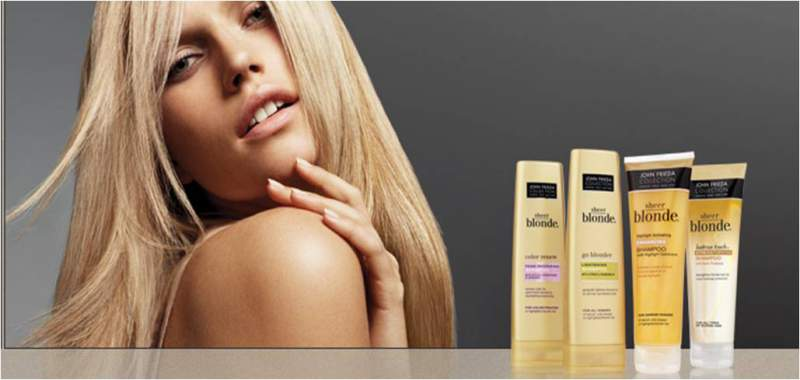 John Frieda Sheer Blonde é um shampoo para cabelo loiro