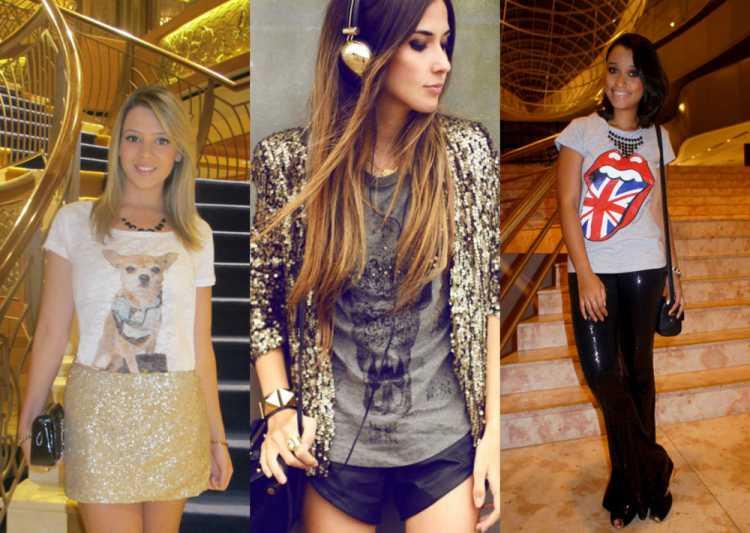 moda feminina com muito glamour e brilho