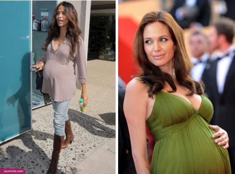 decote em roupas de mulheres grávidas