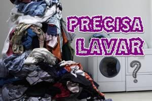 diminua a pilha de roupa para lavar