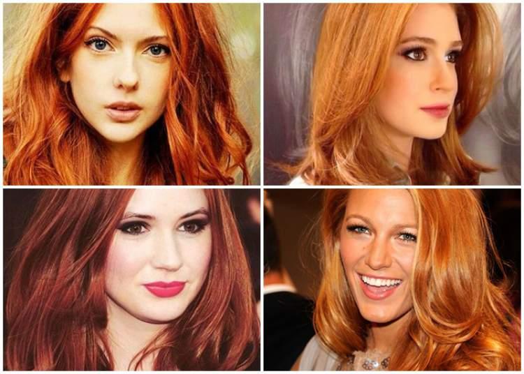fotos de famosas com cabelos ruivo acobreado