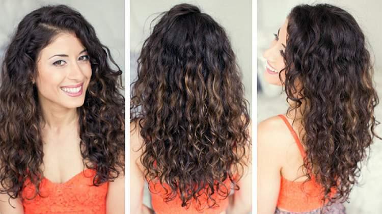 cabelos ondulados hidratados