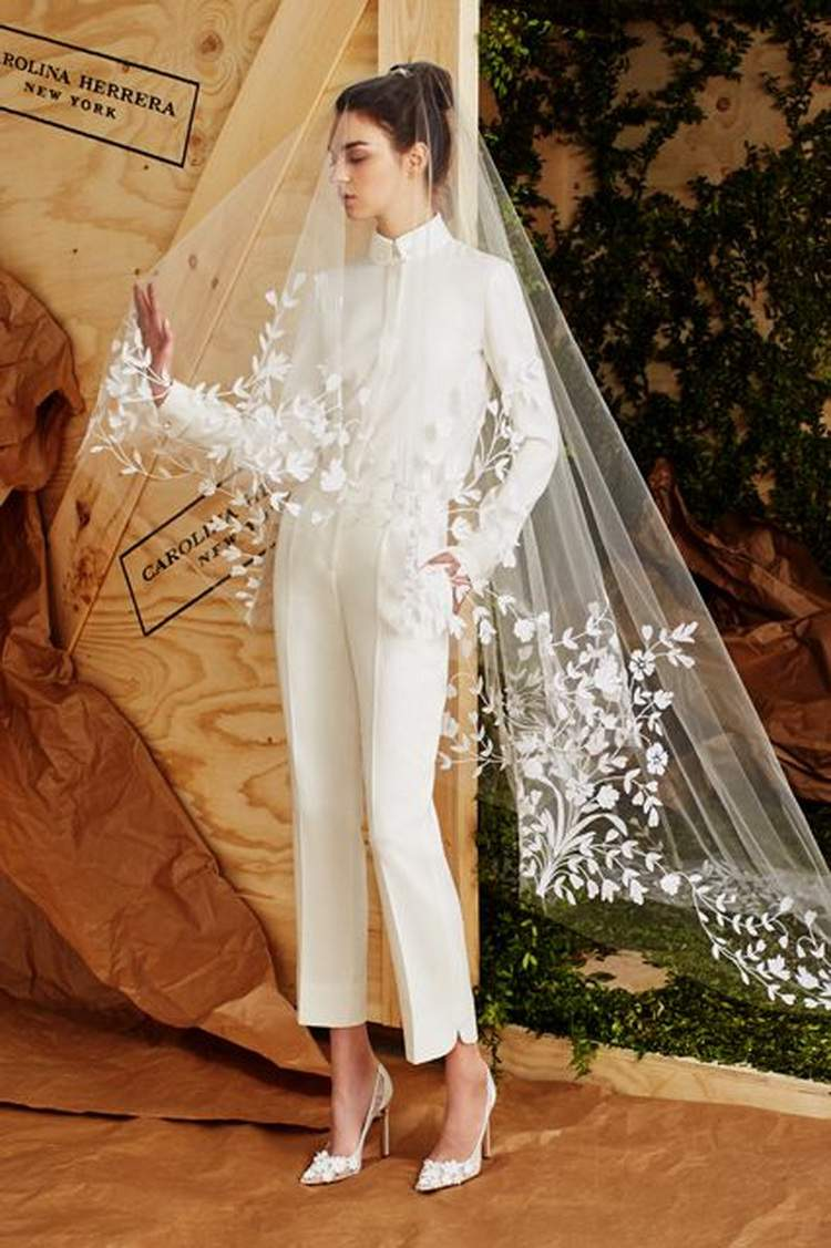 macacão que substitui o vestido de noiva é uma das tendências para 2017