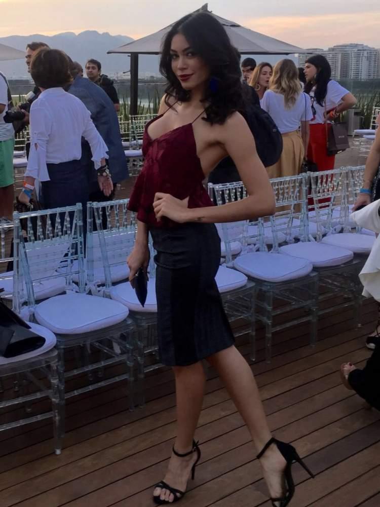 Sheislane Hayalla no evento da Vogue's Fashion Night Out