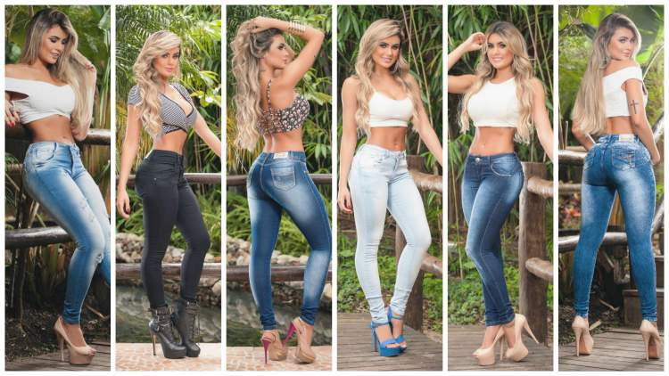 Bailarina do Domingão do Faustão: Natacha Horana mostra como usar looks estilosos com calças jeans