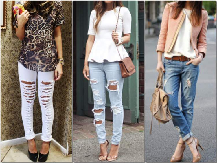 Passe a amar as calças jeans destroyed para ficar mais estilosa já