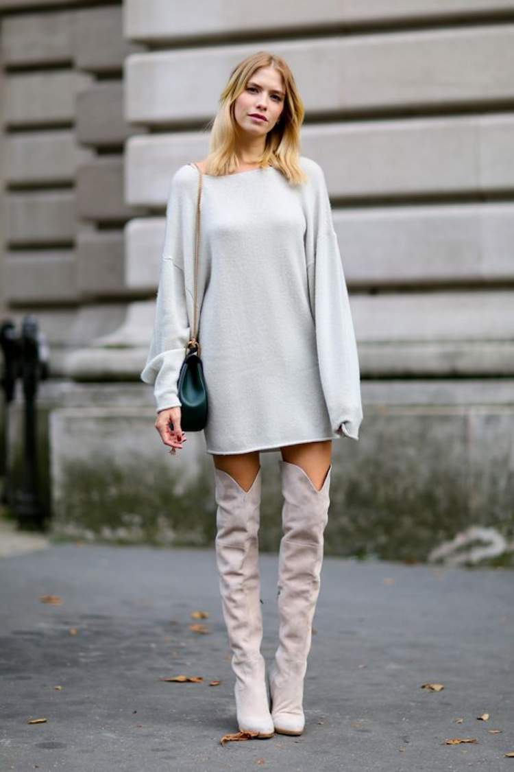 Look fashionista com moletom usado como vestido