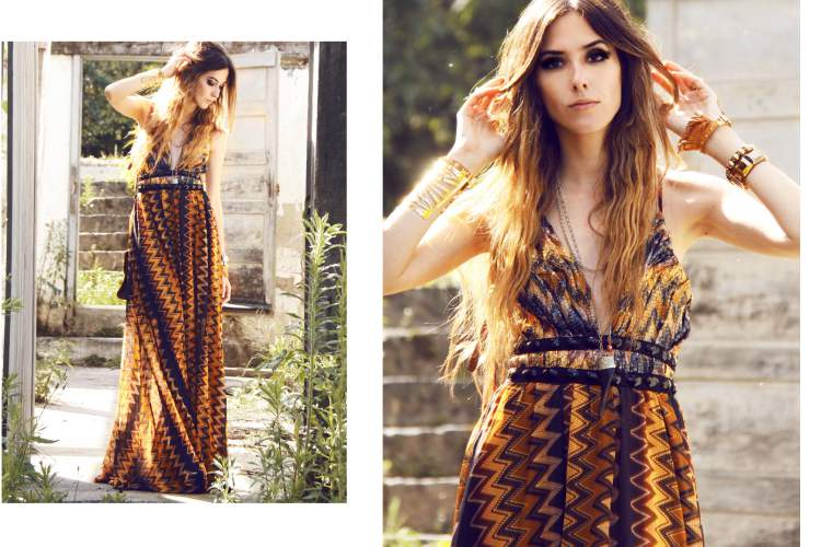 Look fashionista com vestido longo