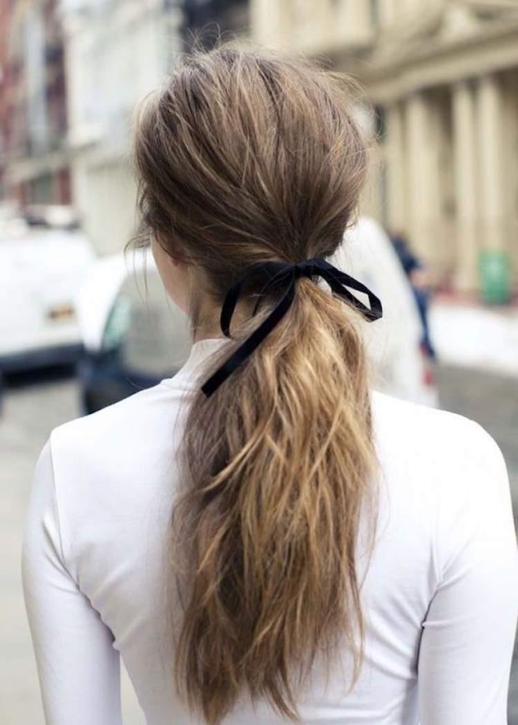 Penteado Rabo de Cavalo com Messy Hair