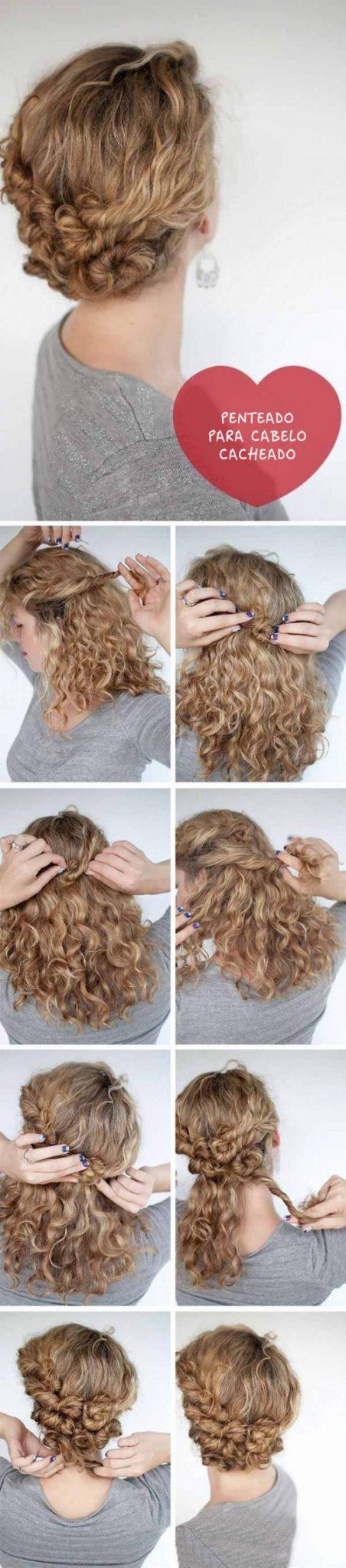 rolinhos delicados para cabelos cacheados e curtos