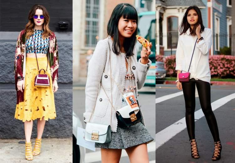 Minibolsas são tendências da moda primavera verão 2018