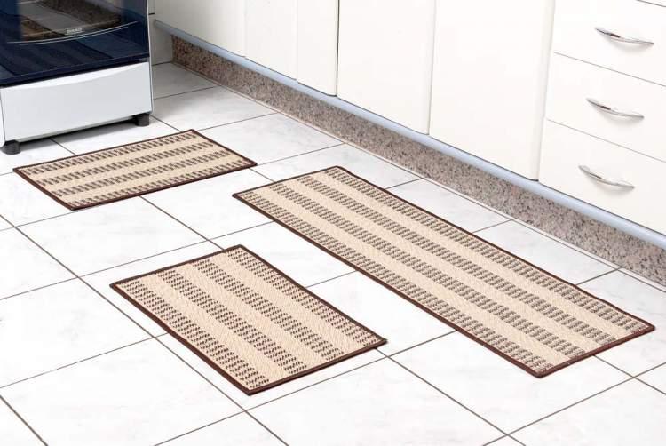 Troque os tapetes para renovar a cozinha sem reformas