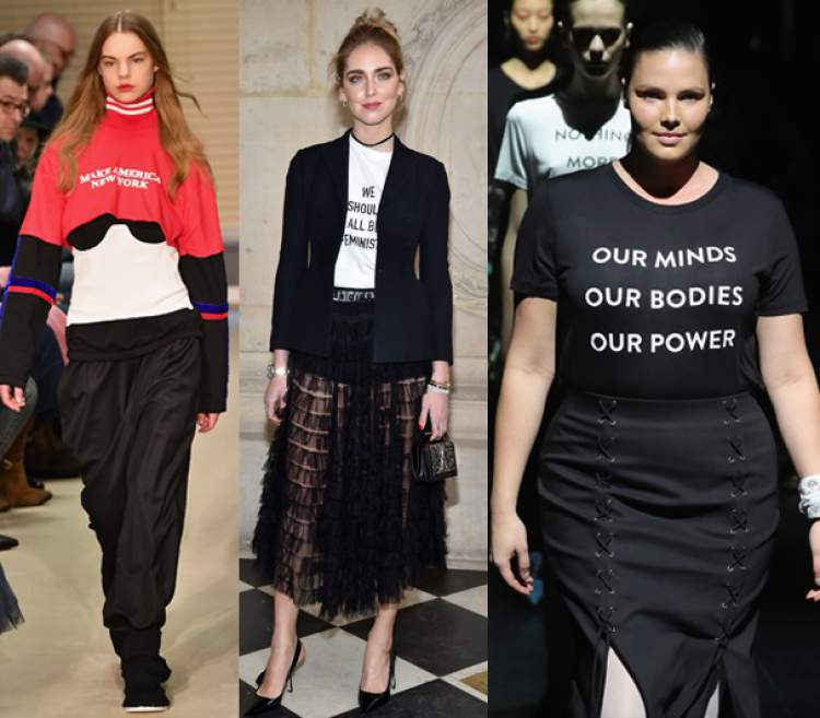 Camisetas empoderadas são tendências da moda 2018