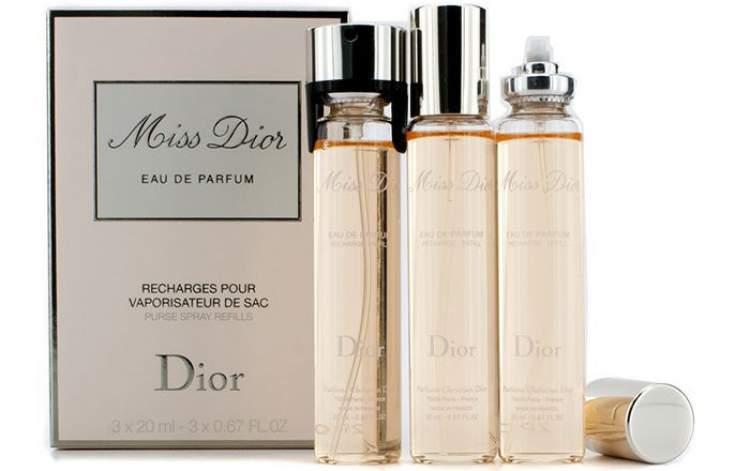 Purse Spray Miss Dior (Dior) é um perfume perfeito para carregar na bolsa