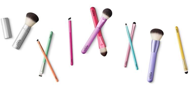 Kit de pincéis da Kiko Milano é um dos lançamentos de produtos de beleza em agosto