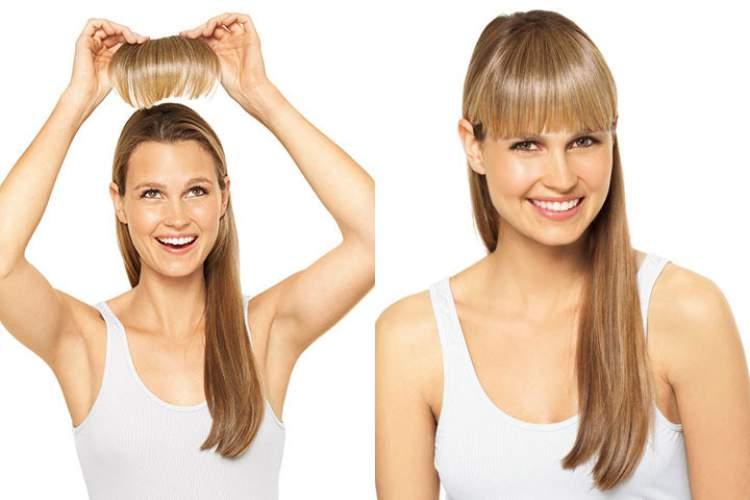 Colocar uma franja falsa é uma maneira de mudar o visual sem cortar o cabelo